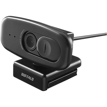BUFFALO WEBカメラ 200万画素 会議向け 広角120° 1920x1080 フルHD対応 30fps F2.2 CMOSセンサー プライバシーフィルター付き マイク内蔵 ケーブル2m ブラック BSW505MBK