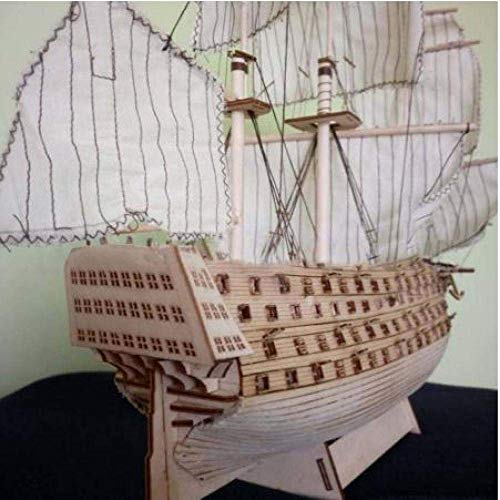 1yess Wohnzimmer Dekorationen Chem Sailboat Modell Hobbylane DIY Holz Assembled Victory Marine-Schiff Segelboot...