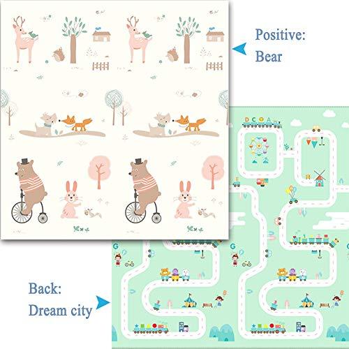 YANGJUN Puzzle Tapis Mousse Bébé Imperméable Antidérapant Doux Pliable Facile À Ranger Ménage Chambre 3 Tailles, 6 Styles (Color : C, Size : 180x200x1cm)