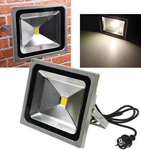 ChiliTec LED-Außenstrahler/Fluter CTF-50W, 50 Watt, warmweiß, mit Ständer, IP