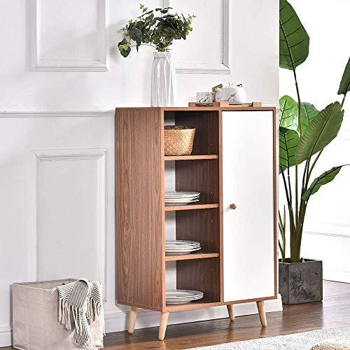 GWFVA Zapatero de esquina de madera con estante para puerta para entrada, pasillo, esquina, salón, cocina, alta aparador, comedor, unidad de servicio armario baño