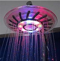 シャワーキャディー 8インチ腹筋をLedバスルームのシャワーは、マルチカラージャンプの変更タイプで、バスルーム用のヘッドシャワー