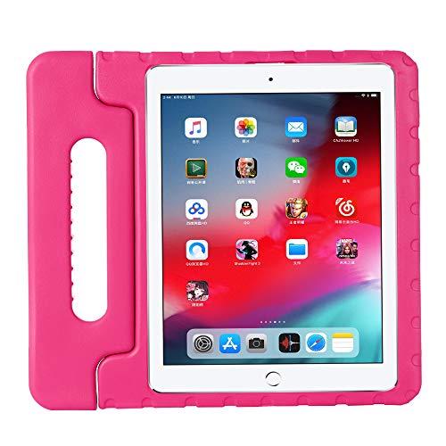 ZiHang Funda Infantil iPad Pro 12.9 2020, Carcasa Niño Antigolpes con Asa Convertible Tapa de Soporte, Funda Bebé Ligera para iPad Pro 12.9 2020 (Rosa roja)