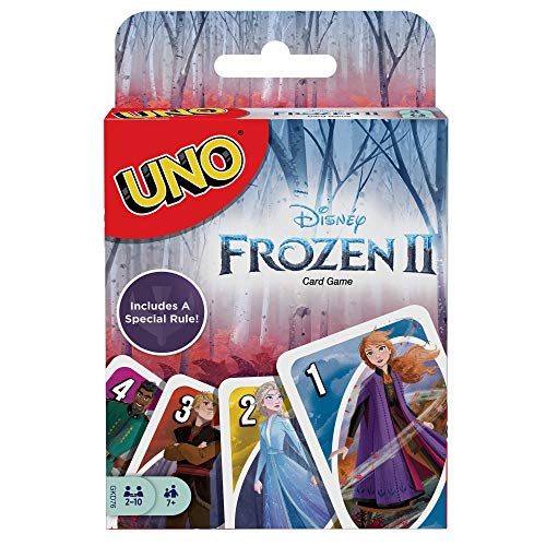 Mattel Games-UNO Gioco di Carte Versione Frozen 2 Giocattolo per Bambini 7+ Anni, GKD76