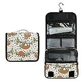 ALARGE - Bolsa de aseo para colgar, diseño de flores y animales