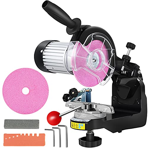 Chainsaw Sharpener,Professional Multi-Angle Adjustable Chain Grinder 3400RPM, Electric Chainsaw Blade Sharpener for 1/4