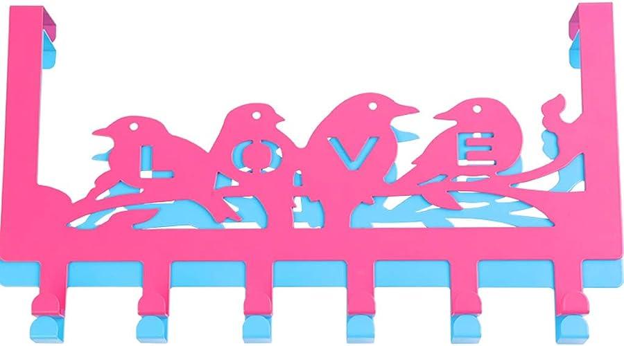 MDMMBB Crochet Aucune Trace derrière la Porte Crochet Porte de Chambre en Plastique créatif en Plastique sans Clou Suspendu portehommeteau Mural Porte Porte Manteau Crochet Crochet