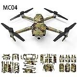 XUSUYUNCHUANG for DJI 2 Zoom Pro Mavic Corps étanche Drone Camouflage Autocollant Peau Decal Protecteur 3D Couverture for DJI 2 Accessoires Pro Mavic Drone Accessoires (Color : MC04)