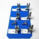 6 Piedino per macchina da cucire industriale in teflon 1/8', 3/16' 1/4' per Juki Brother
