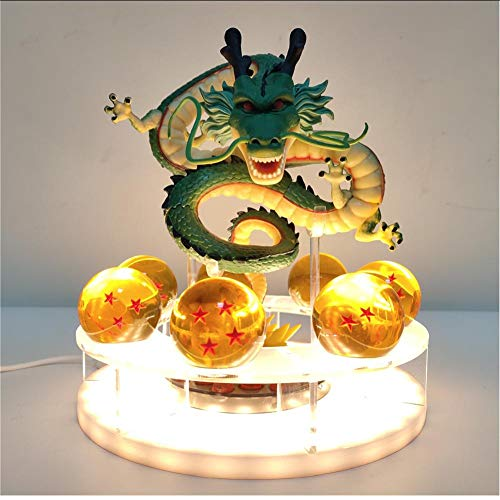 Layyyqx Ball Shenron Crystal Ball Led Night Light Dragon Ball Lámpara Usb Power Toys Modelo
