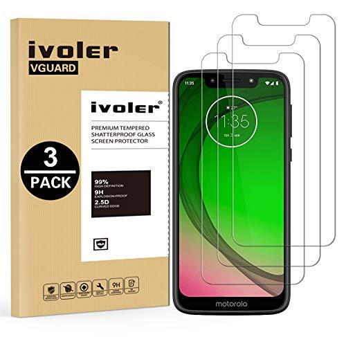 VGUARD [3 Unidades] Protector de Pantalla para Motorola Moto G7 Play, Cristal Vidrio Templado Premium para Motorola Moto G7 Play