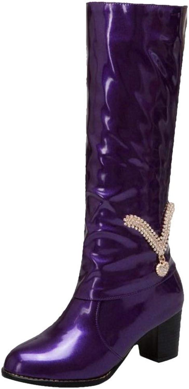 Unm Women Fashion Mid Heel Long Boots