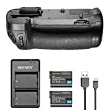 Neewer Vertical Battery Grip MB-D15 Replacement with 2 Pieces 2100mAh EN-EL15 Replacement Li-ion Battery and Micro USB Input Dual-Channel Battery Charger for Nikon D7100 D7200 Digital SLR Camera