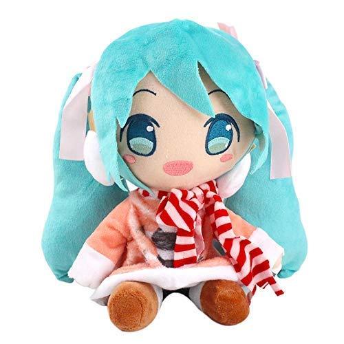 Plush Toys 22cm Plush Toy Hatsune Miku In Dress Scar'fs Anime Soft Stuffe'd Beauty Dolls LATT LIV