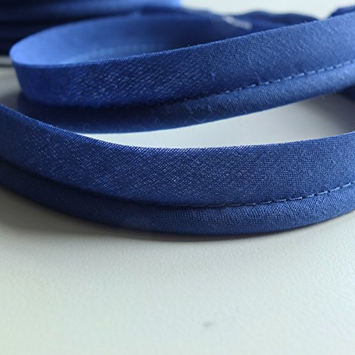 Royal Blue Large flanged 7mm Insert Piping Cord Poly Cotton bias Cut - Sold by The Metre - Many Colours
