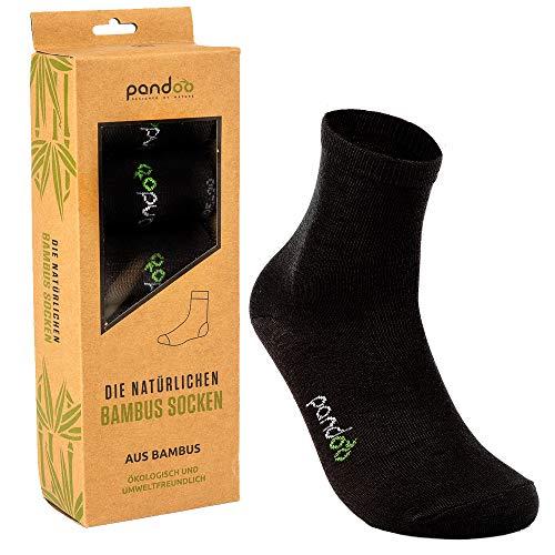 pandoo GmbH Bambus Sport Socken - 6er Pack Größe Größe 43-46, Farbe Schwarz