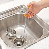 Cepillo de limpieza de alcantarillado flexible para alivio de drenaje, para baño, cocina, inodoro, mango largo de 80 cm