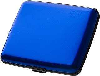 HONB Aluminum Wallet Credit Card Holder RFID Blocking Card Case Women Men (Aluminum Blue)