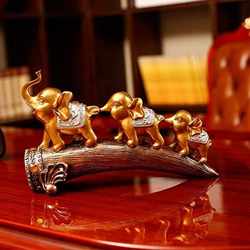 N\C Decoración, Decoración Casera Europea, Tres Pequeñas Elefante Mobiliario, Resina Materias Primas, Conveniente For Elefante De La Sala De TV Gabinete del Vino Gabinete Porche Exquisita decoración