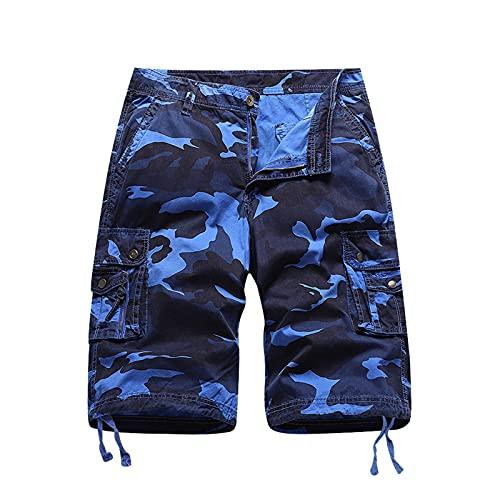 DeaAmyGline Kurze Hosen Herren Camouflage Shorts Cargohose Kurz mit Multi-Tasche Sommer Sport Shorts Männer Sweatshorts Jogginghose Laufshorts Sportshorts Wandershorts Arbeitsshorts