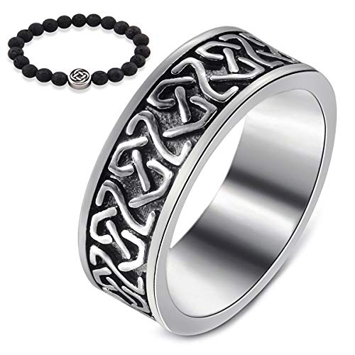 Gungneer Celtic Knot Stainless Steel Ring Celts Vintage Irish Eternal Love Strength Jewelry US Size 7-13