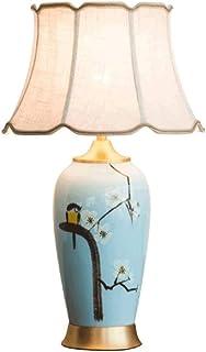 WYBFZTT-188 Moderne Tischlampe Bronze Muster Drum Shade for Wohnzimmer Familien Schlafzimmer Nachttischlampe