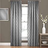 GUUVOR Grey Wear-Resistant Color Curtain Wire Fence Design Netting Display with Diamond Plate Effects Chrome Kitsch Motif Print Waterproof Fabric Curtain 52' Wide x 84' Long Silver