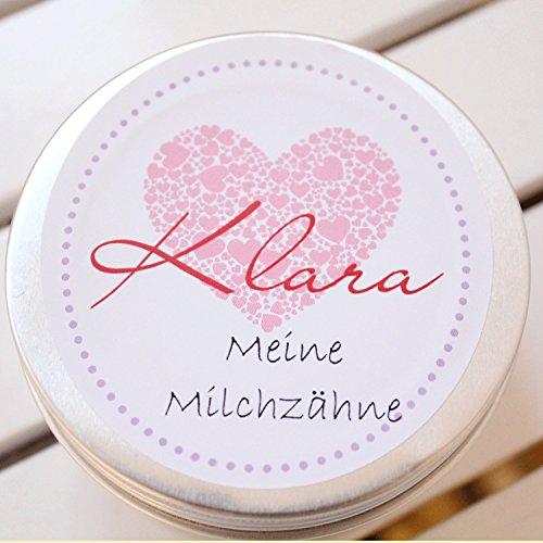 Zahndose mit Namen personalisiert für Mädchen/Geschenk zur Einschulung (Zahndose Klara)