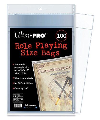 Ultra Pro E-81506 Bolsas de tamaño de Juego para Roles (100 Unidades), Transparente, 10 x 13 Pulgadas