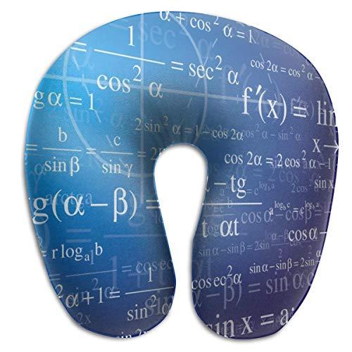 Sabalone Almohada para el Cuello Matemáticas con fórmulas Almohada de Viaje en Forma de U Funda Lavable con diseño ergonómico y Contorneado