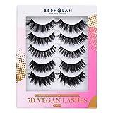 BEPHOLAN False Eyelashes|5 Styles Mix 5 Pairs Fake Eyelashes|5D Multi-Layerd Effect |100% Handmade & Cruelty Free|Super Light Comfortable To Wear|Vegan Lashes XMZ282