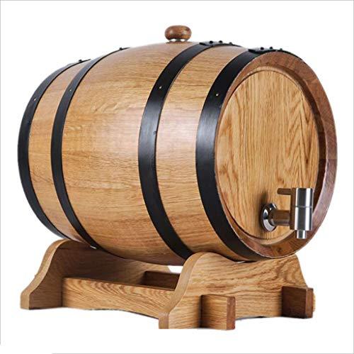 Barril de vino Toneles para Vino, Roble, 5L-10L Vino Blanco Tinto Decoración del hogar Barril de Cerveza Color Madera (tamaño : 10L)