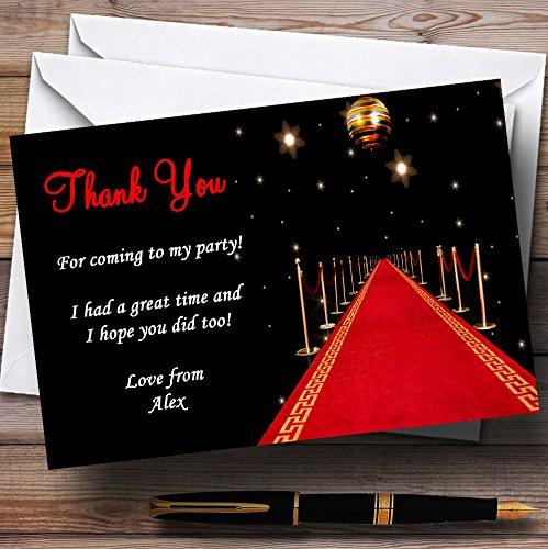 Rode Tapijt Vip Gepersonaliseerde Party Dank U Kaarten