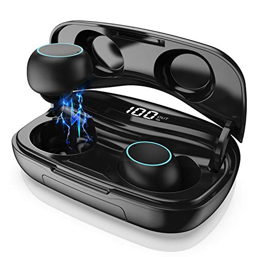Wireless Earbuds, Bluetooth 5.0 Wireless Headphones with 3500mAh Charging Case LED Battery Display 60H Playtime, Smart Touch, IPX7 Waterproof Wireless Earphones in-Ear Built-in Mic Headsets for Sport