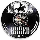 hxjie Freedom Rider Cowboy Show Cowboy Reloj de Pared Wild Cowboy Life Disco Vintage Western Equitación Ecuestre