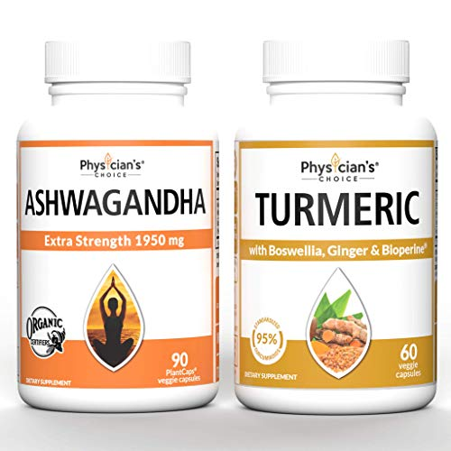 Ashwagandha 1950mg Organic Ashwagandha + Organic Turmeric Curcumin C3 Complex