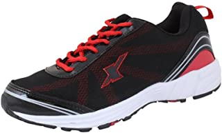 CLICKTIN Men's Sparx Running Sport Shoes (Blue and Red, 10)