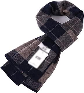 Scarves Scarf Scarves Men's Scarf Plaid Wool Scarf Winter Warm Men's Scarf (Color : Blue, Size : 180 * 30cm)
