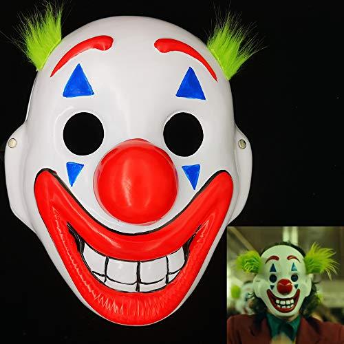 Ubauta 2019 Joker Maske Arthur Fleck Masken Cosplay DC Film Clown Halloween Kostüm Maske