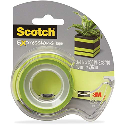 Scotch, MMMC214GRND, Expressions Matte Finish Magic Tape, 1 / Roll, Matte Light Green