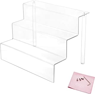 acrylic display shelf with stairway design