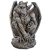 Design Toscano JE11211701 Silas The Sentry Gargoyle Decor Statue, 24 Inch, Large, Gothic Stone