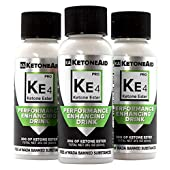KetoneAid KE4 World's Strongest Ketone Ester Drink, 30g Exogenous D BHB. Not a Salt. Sugar Free, Caffeine Free. (3 Count)