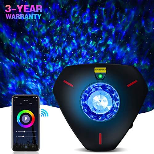 Star Projector Galaxy Projector Night Light Work with Alexa Bluetooth...