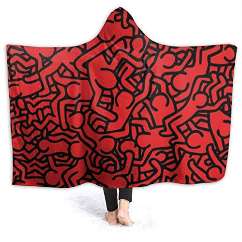 Trista Bauer Ultra Soft Micro Fleece Throw Hooded Blanket Kei-Th-Ha-Ring All Season Light Weight Hypoallergenic Bed Blanket for Couch Bed Sofa 50x60in-Z0