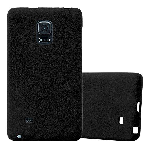 Cadorabo Funda para Samsung Galaxy Note Edge en Frost Negro - Cubierta Proteccíon de Silicona TPU Delgada e Flexible con Antichoque - Gel Case Cover Carcasa Ligera