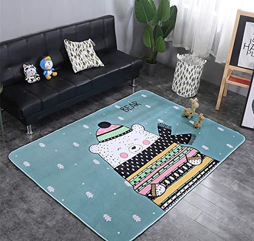Animaux Fox Lapin Cerf Dessin Animé Motif Bébé Tapis De Jeu Enfant Crawling Couverture Couverture Nordic Kids Room Home Decor 200 * 150cm 2