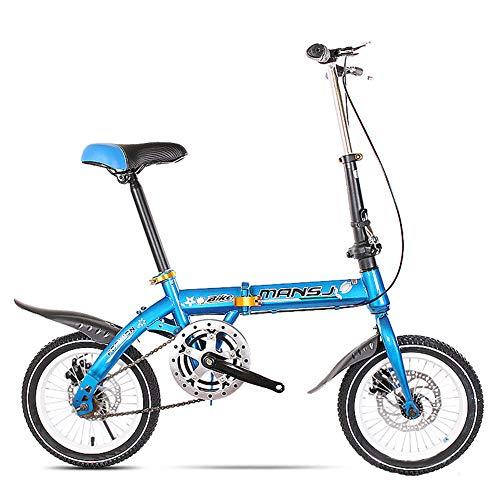 GHH Faltbares Fahrrad 14/16 Zoll Herren Damen Ultraleicht klappfahrrad Scheibenbremsen leicht und robust Klapprad,16