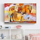 N / A Pintura sin Marco Mural Arte Animal Caballo decoración del hogar sobre Lienzo ZGQ7114 50x75cm