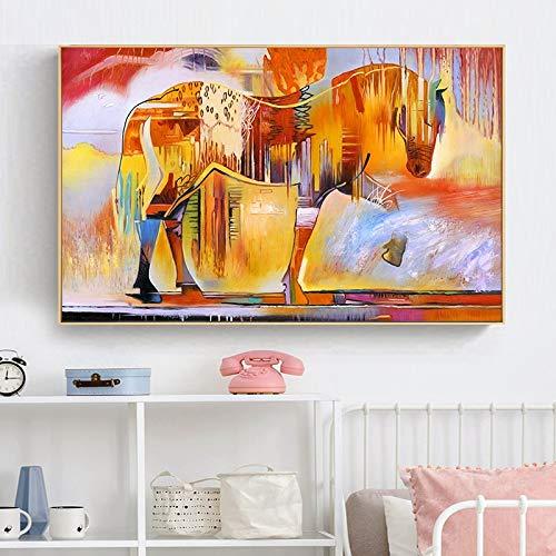 N / A Rahmenlose Malerei Wandkunst Tier Pferd Heimdekoration auf LeinwandZGQ7111 20x30cm